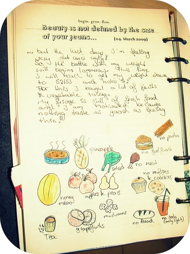 Diet Diary courtesy of Flickr User sushi♥ina