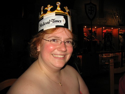 smiling at the Medieval Times in Maryland