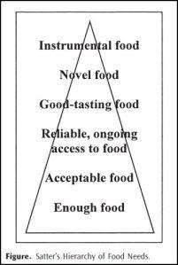 food needs hierarchy
