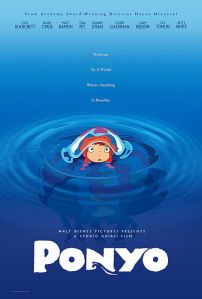 English movie poster for Ponyo
