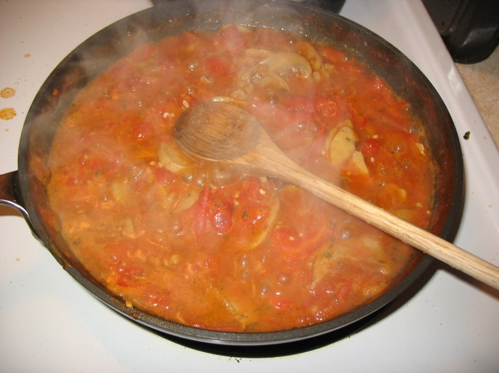 the finished marinara
