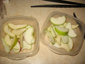 Crispy apples and pears