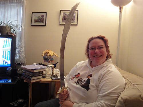 New Sword.  Heavy, well-balanced, wicked looking!