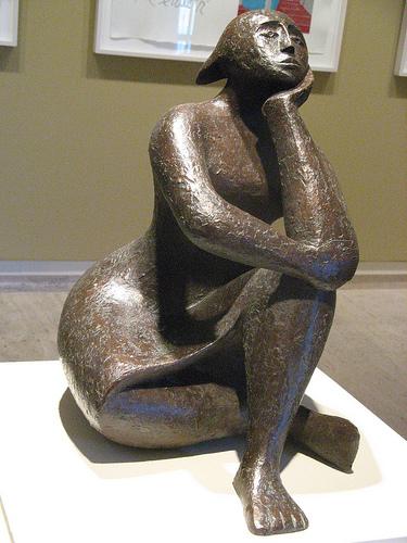 pensive figure