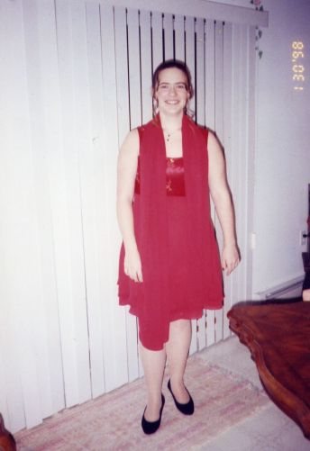 "Dress shopping used to be a nightmare.  Always in the ""plus"" sizes.  But, look at that!  Why was I always so discontent?!"