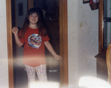 I used to wear non-black pants!  Look at that awesome pattern!